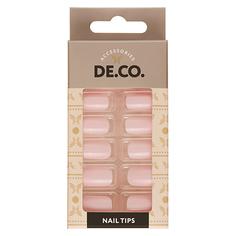 Набор накладных ногтей DE.CO. ESSENTIAL Mild pink 24 шт + клеевые стикеры 24 шт Deco