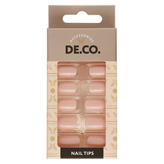 Набор накладных ногтей DE.CO. ESSENTIAL Nude 24 шт + клеевые стикеры 24 шт Deco