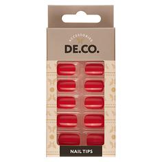 Набор накладных ногтей DE.CO. ESSENTIAL Carrot 24 шт + клеевые стикеры 24 шт Deco
