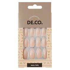 Набор накладных ногтей DE.CO. OMBRE white 24 шт + клеевые стикеры 24 шт Deco
