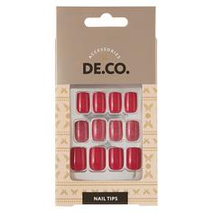 Набор накладных ногтей DE.CO. OMBRE bright pink 24 шт + клеевые стикеры 24 шт Deco