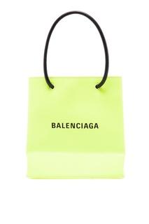 Неоново-желтая сумка-кроссбоди Balenciaga
