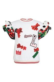 Футболка с оборками на рукавах Dolce&Gabbana Children