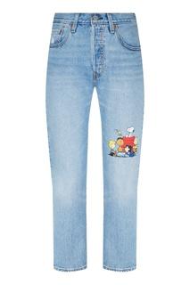 Голубые джинсы с принтом Levis