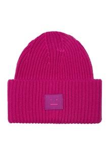 Розовая шапка Pansy Face Acne Studios