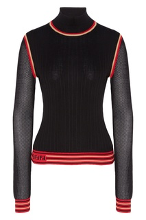 Джемпер из шелка черного цвета Fendi