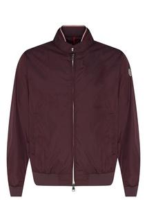 Куртка сливового цвета на замке-молнии Moncler
