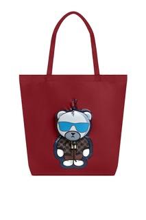 Бордовая сумка-шоппер Ulisse Furla