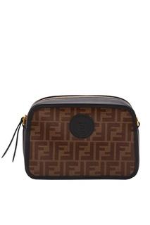 Сумка Camera Case темно-коричневого цвета Fendi