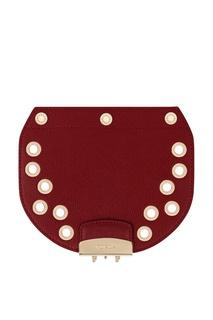 Бордовый съемный клапан для сумки Metropolis Furla