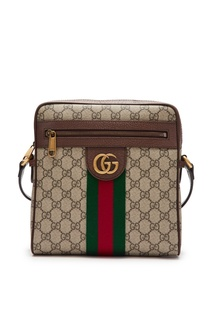 Коричневая сумка «Ophidia» на ремне Gucci