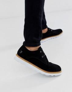 Черные кожаные туфли со шнуровкой Farah - Черный