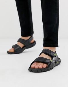 Черные сандалии на массивной подошве Rider - tender - Черный
