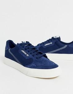 Темно-синие кроссовки с замшевой отделкой adidas Originals Continental - Темно-синий