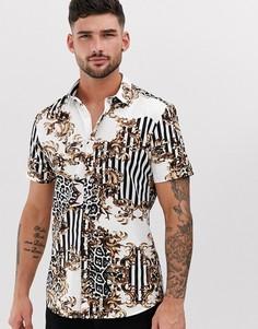 Рубашка с принтом в стиле барокко River Island - Белый