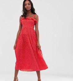Платье макси в горошек Vero Moda Tall - Мульти