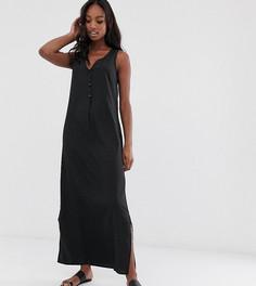 Платье макси с пуговицами Vero Moda Tall - Черный
