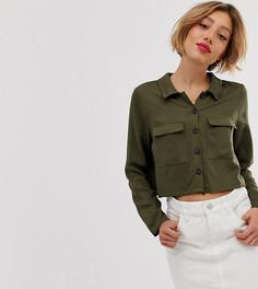 Свободная рубашка Vero Moda Petite - Зеленый
