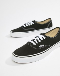 Черные кеды Vans Authentic - Черный