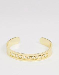 Золотистый браслет-цепочка с крупными звеньями Seven London - Золотой