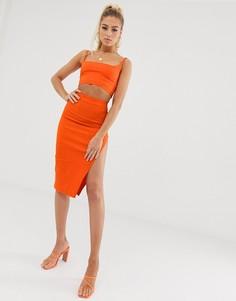 Оранжевая юбка миди от комплекта Vesper - Оранжевый