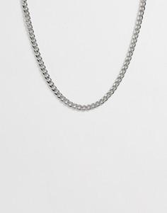 Серебристое ожерелье-чокер в виде цепочки SVNX - Серебряный 7X