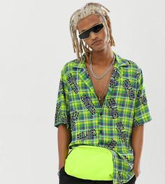 Зеленая рубашка в клетку Reclaimed Vintage - Зеленый