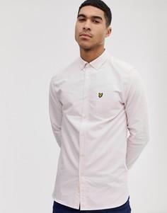 Светло-розовая оксфордская рубашка с длинными рукавами Lyle & Scott - Розовый