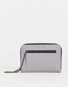Серый кошелек на молнии с тисненым рисунком Juicy alexis - Серый