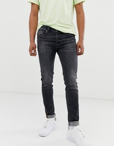 Выбеленные серые джинсы скинни Diesel Sleenker X 084AT - Серый