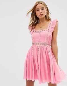 Платье мини Free People Verona - Розовый