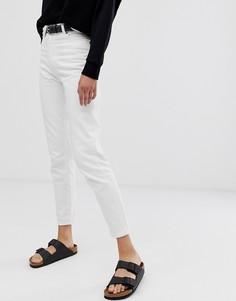 Джинсы в винтажном стиле с завышенной талией Dr Denim Nora - Белый