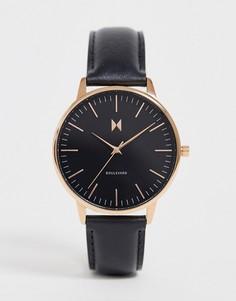 Часы с кожаным ремешком MVMT - Boulevard - Черный