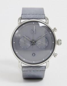 Часы с кожаным ремешком MVMT - Blacktop - Серый