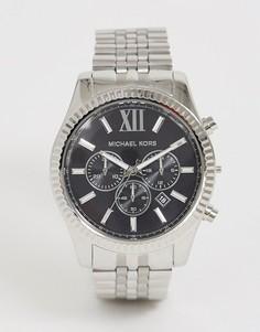 Серебристые наручные часы Michael Kors MK8602 Lexington 44 мм - Серебряный