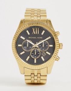 Золотистые наручные часы Michael Kors MK8286 Lexington - Золотой