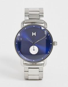 Наручные часы с синим циферблатом MVMT - Revolver - Серебряный