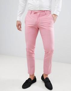 Розовые брюки скинни Noose & Monkey - Розовый
