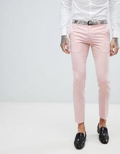 Супероблегающие брюки под смокинг Noose & Monkey Wedding - Розовый