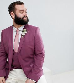 Пиджак скинни Noose & Monkey PLUS Wedding - Фиолетовый