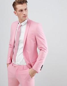 Розовый приталенный пиджак Noose & Monkey - Розовый