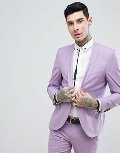 Сиреневый облегающий пиджак Noose & Monkey Wedding - Фиолетовый