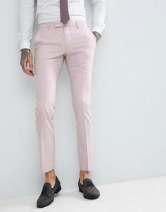 Светло-розовые облегающие брюки Noose & Monkey Wedding - Розовый