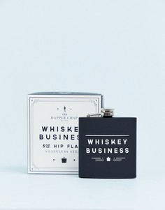Фляжка Dapper Chap whiskey business - Черный