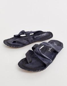 Кожаные сандалии с ремешками Free People Bailey - Черный