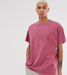 Пыльно-красная oversize-футболка Reclaimed Vintage - Фиолетовый