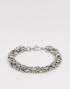 Серебристый массивный браслет-цепочка Seven London - Серебряный