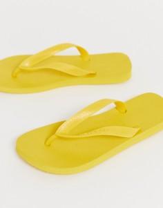 Желтые шлепанцы Havaianas - Желтый