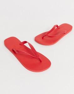 Красные шлепанцы Havaianas - Красный