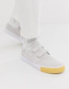Кроссовки на липучках Nike SB Zoom Janoski - Бежевый